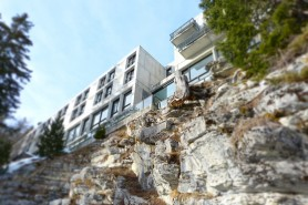 Exterior shot Hotel Totem in Flaine