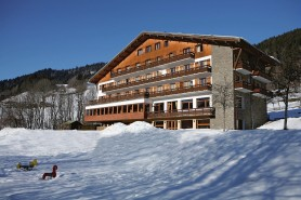 exterior of the Hotel Chalet Du Prariand