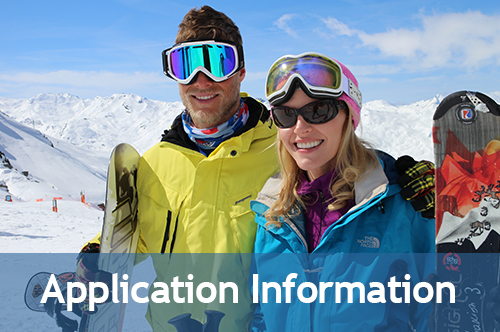 Application Information with SkiWeekends