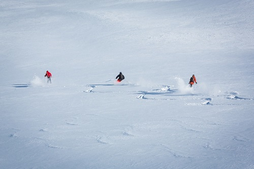 Verbier powder skiing