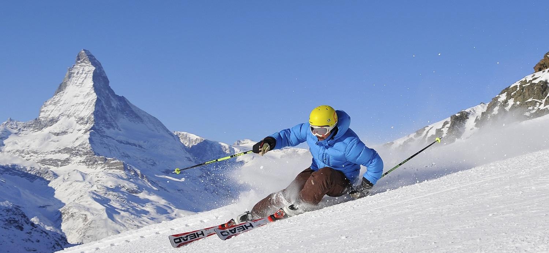 Skiing with the Matterhorn