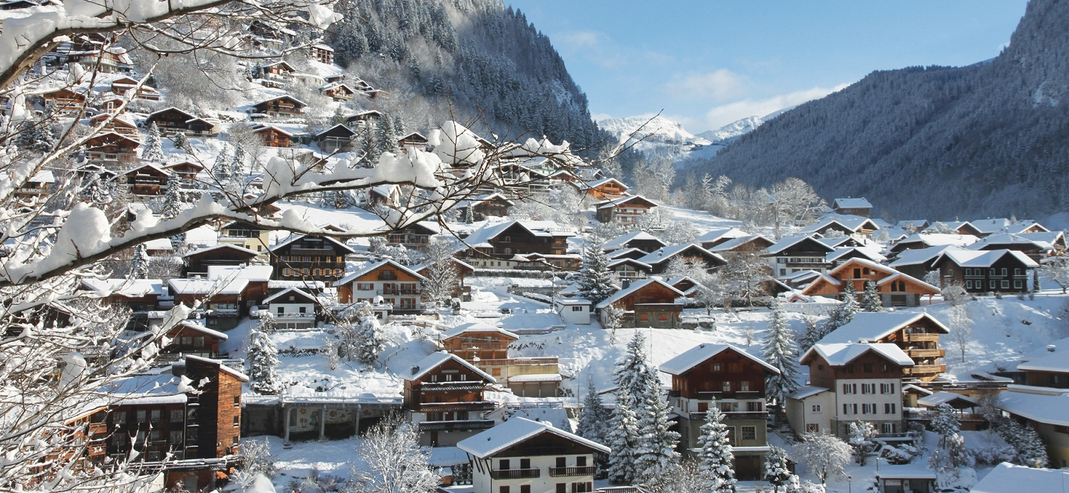Views across Morzine Village