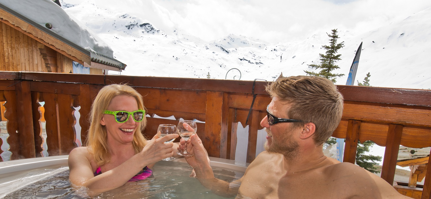 Couple in the Hot tub