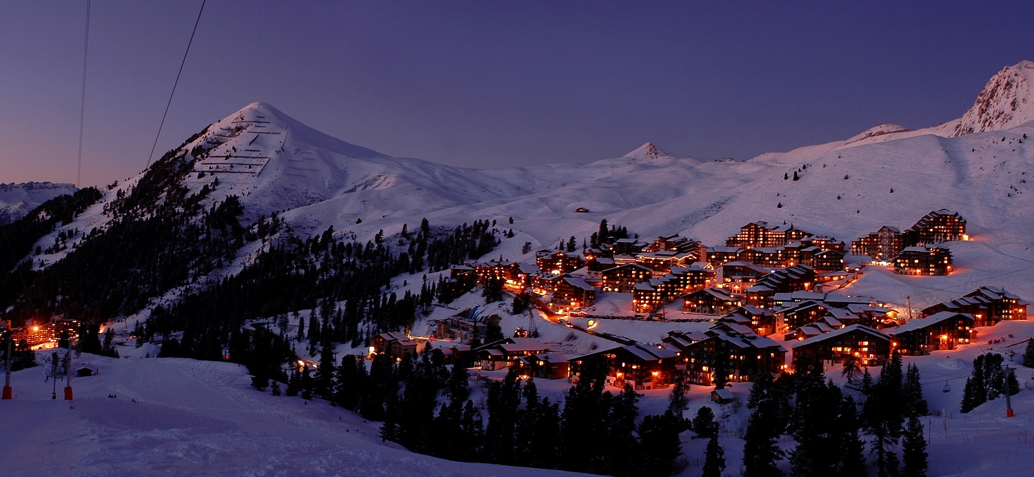 Belle Plagne at Night