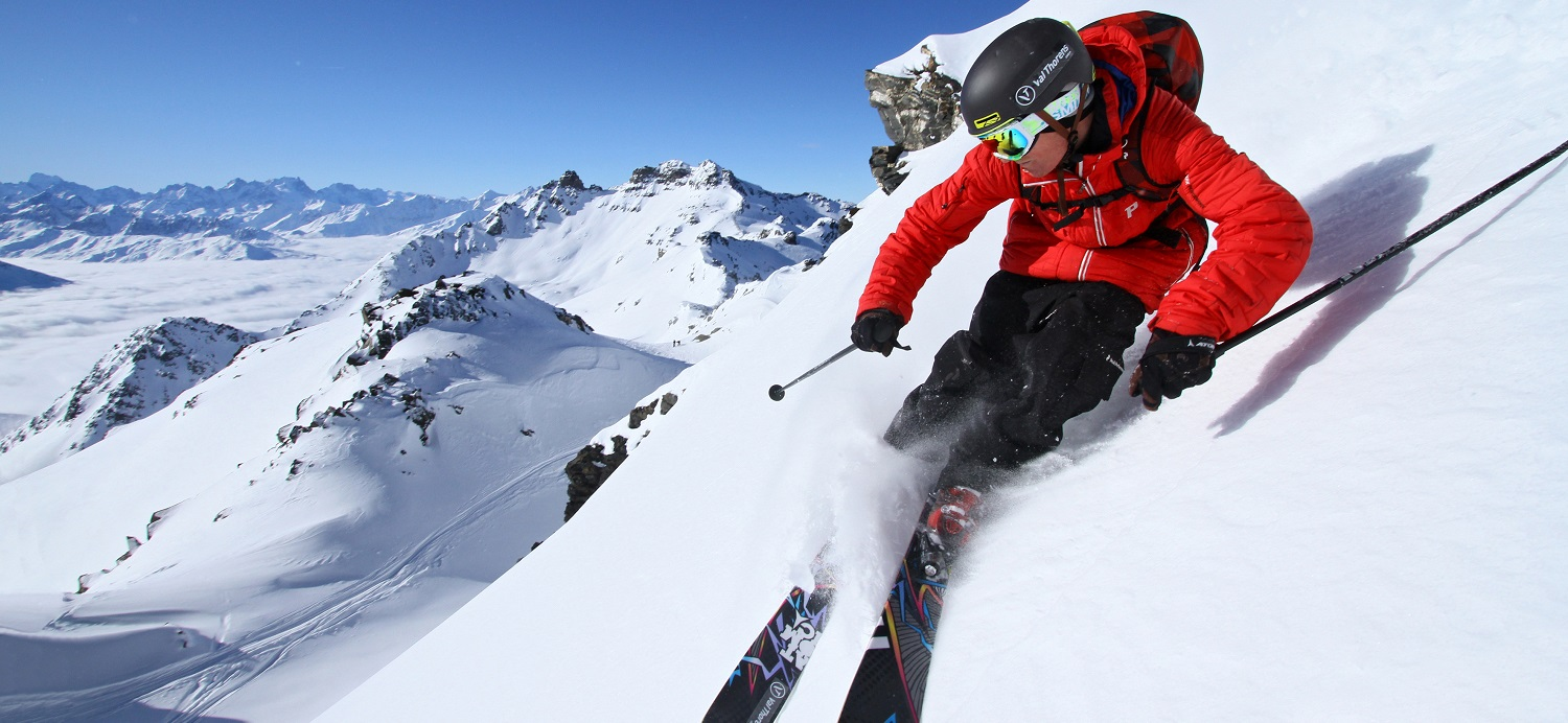 High altitude skiing in Val Thorens