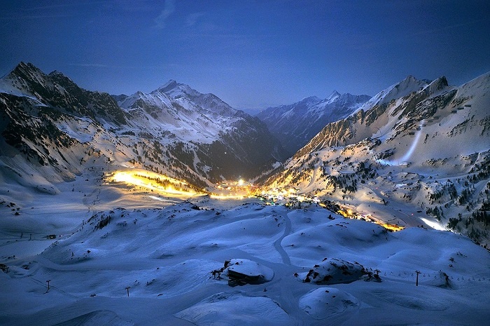 Obertauern Ski Resort at Night