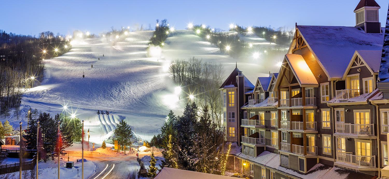 Traditional ski village