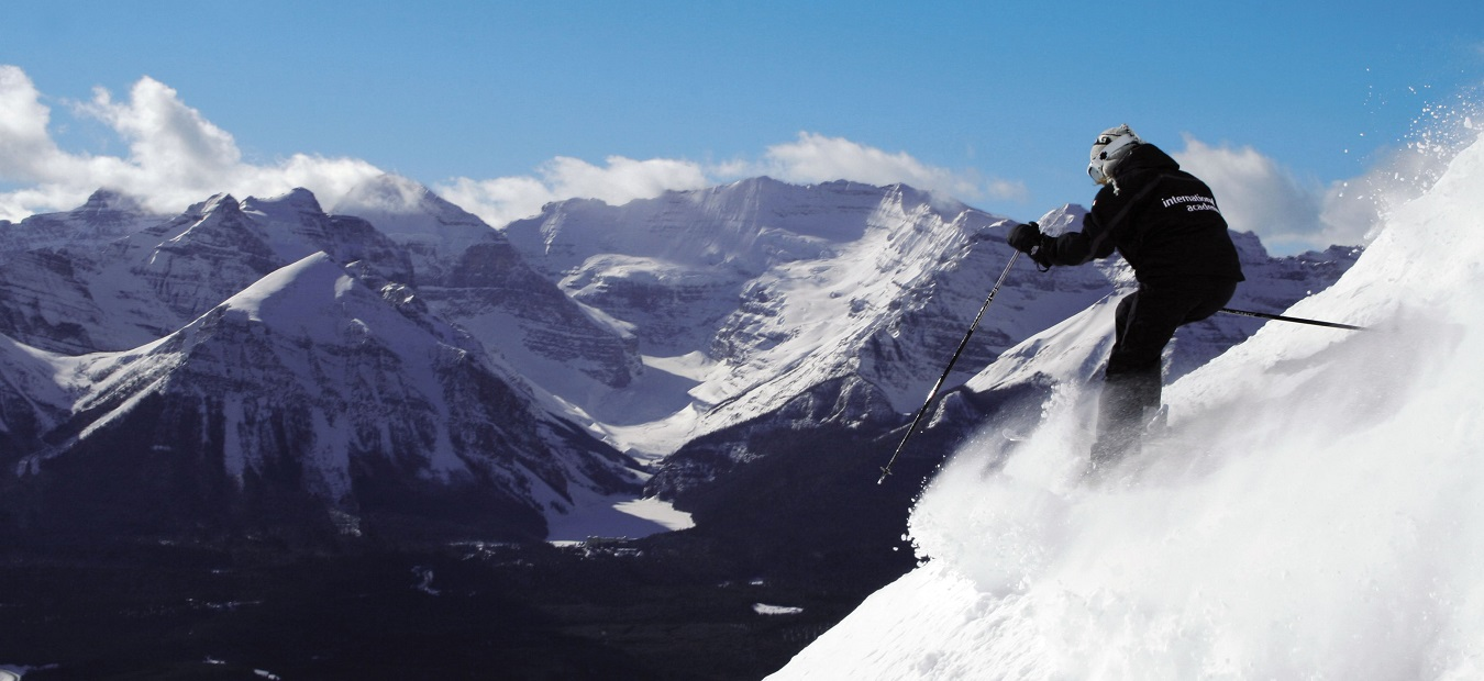 Skier in jacket and powder