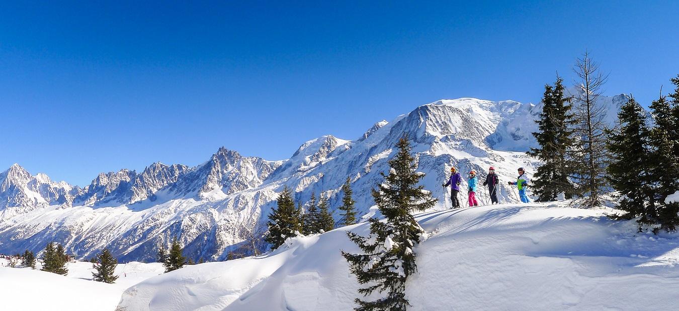 Mont Blanc And Aiguille Du Midi Mountain Range