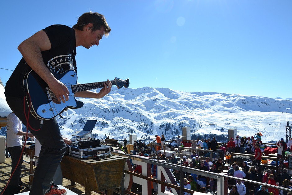 live music on the slopes of Meribel