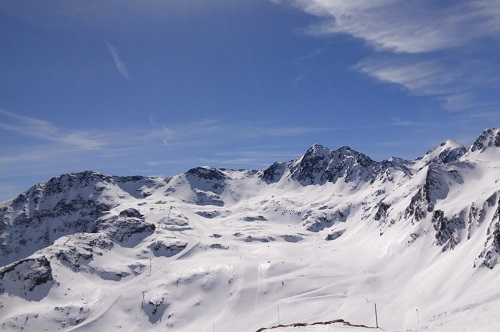 Mountains and blue sky in Andorra