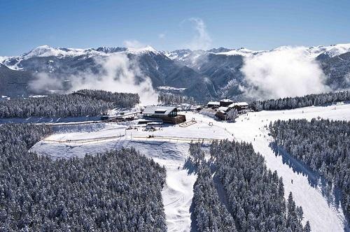 Andorran ski resort from afar