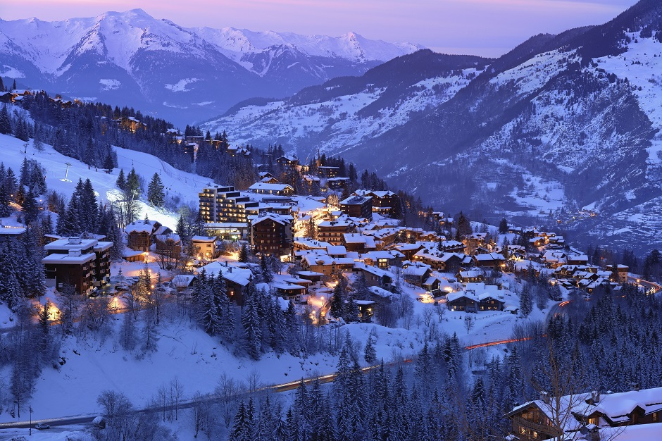 Courchevel 1550 at night