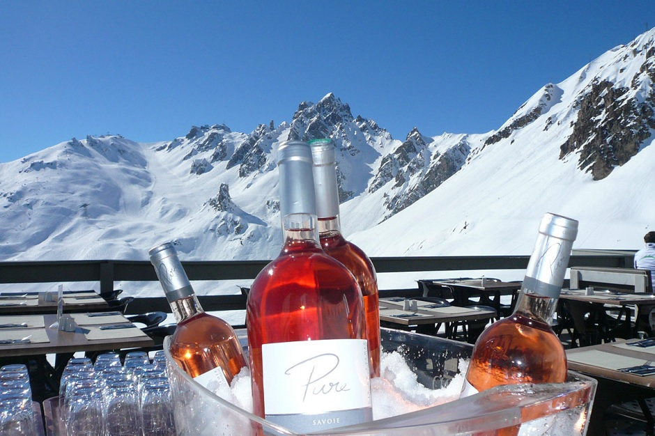 Wine buckets on the slopes