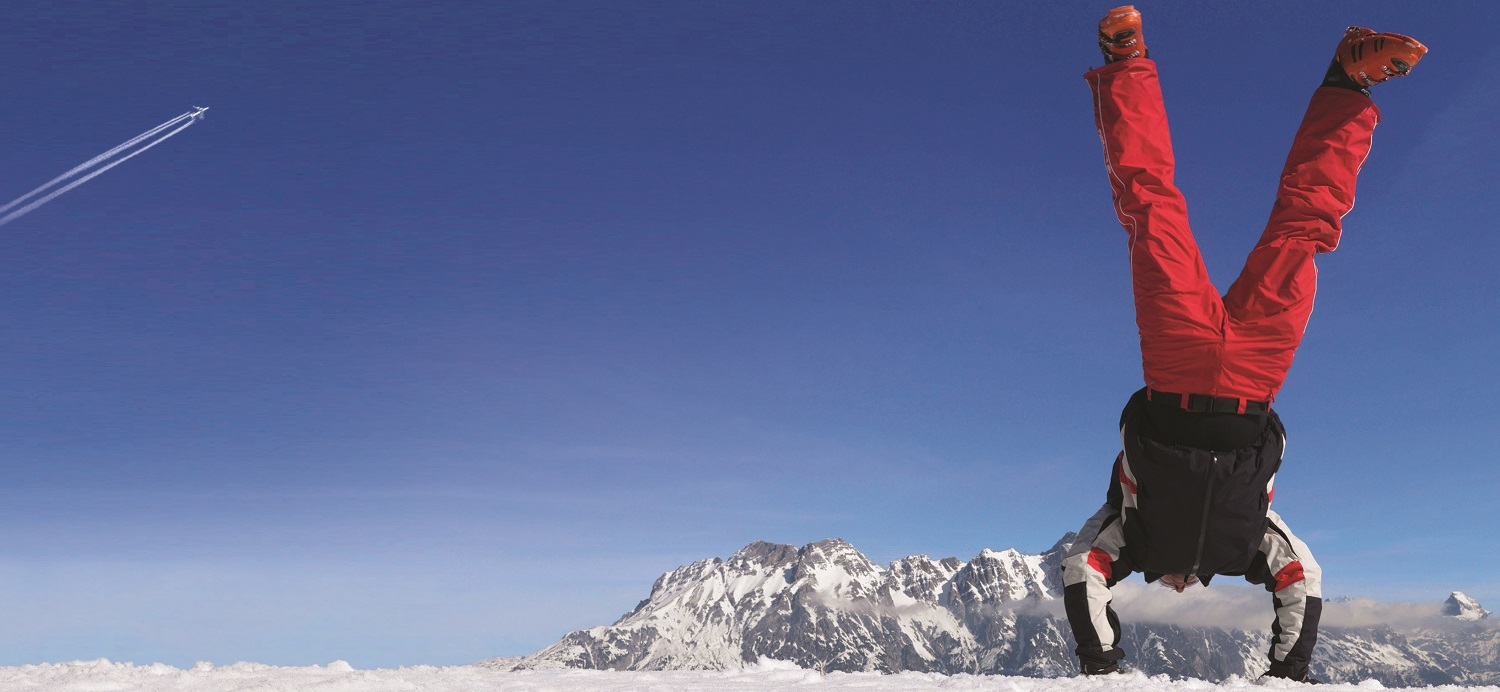 Handstand on the slopes