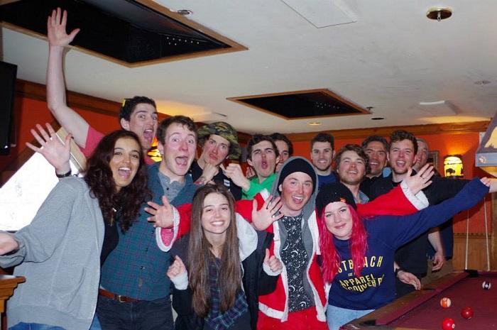 group of trainee ski instructors