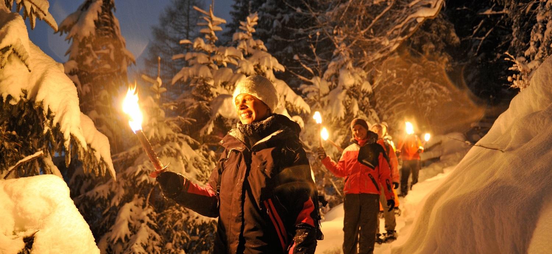 Torchlight mountain walk