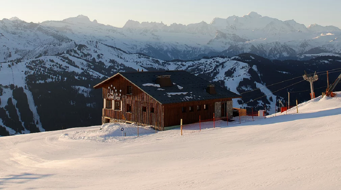 Hut on the slopes of Les Gets