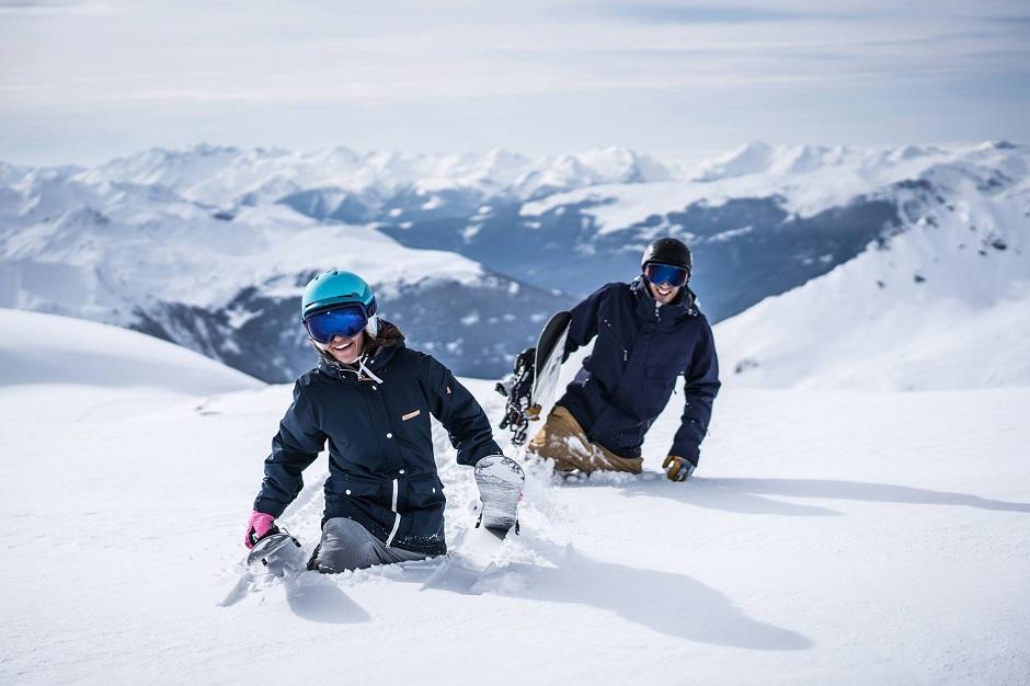 Powder skiing in Les Arcs
